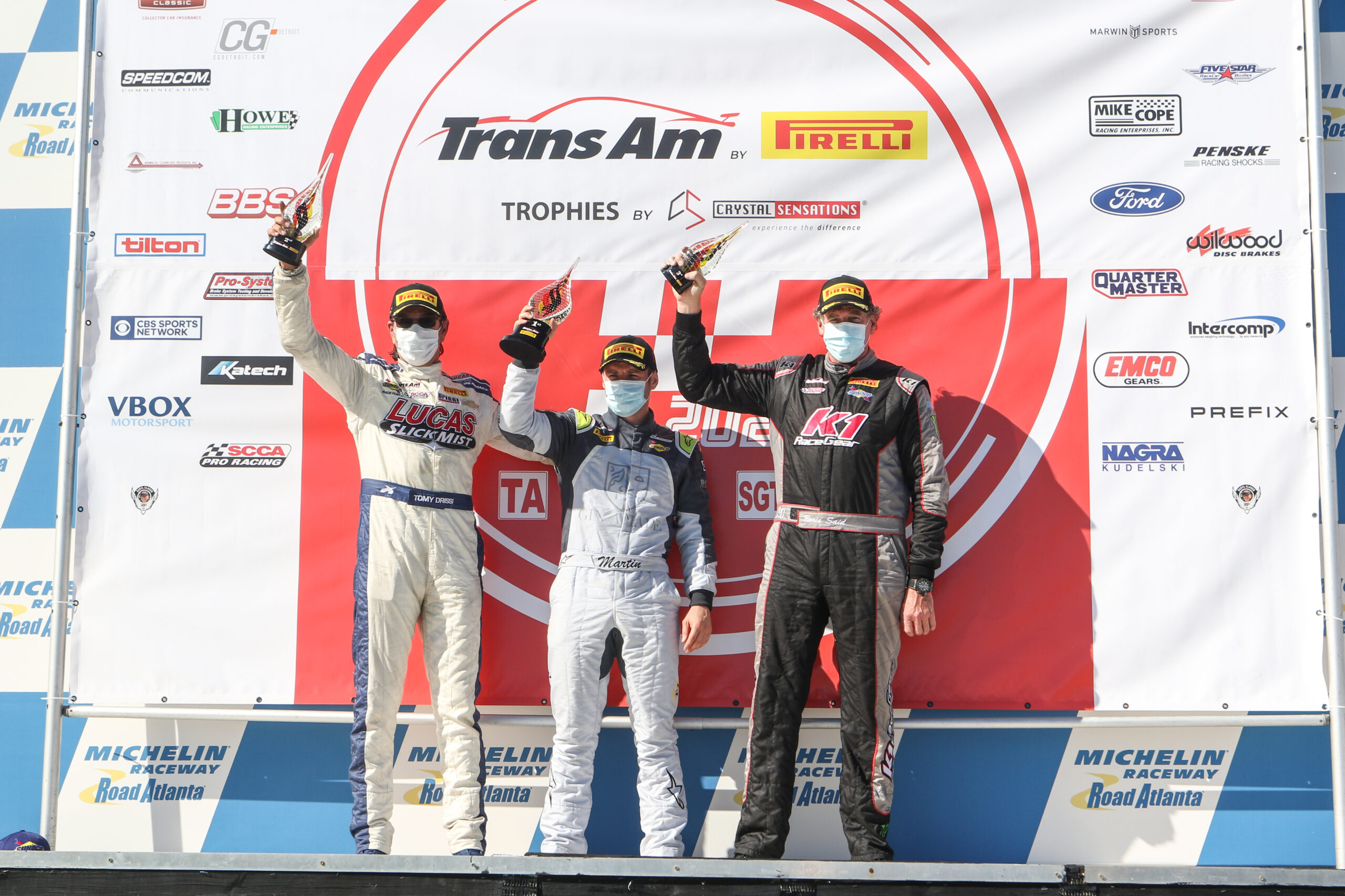 Tomy Drissi and Lucas SlickMist Finishes Trans Am Season Finale with a Full Podium Weekend