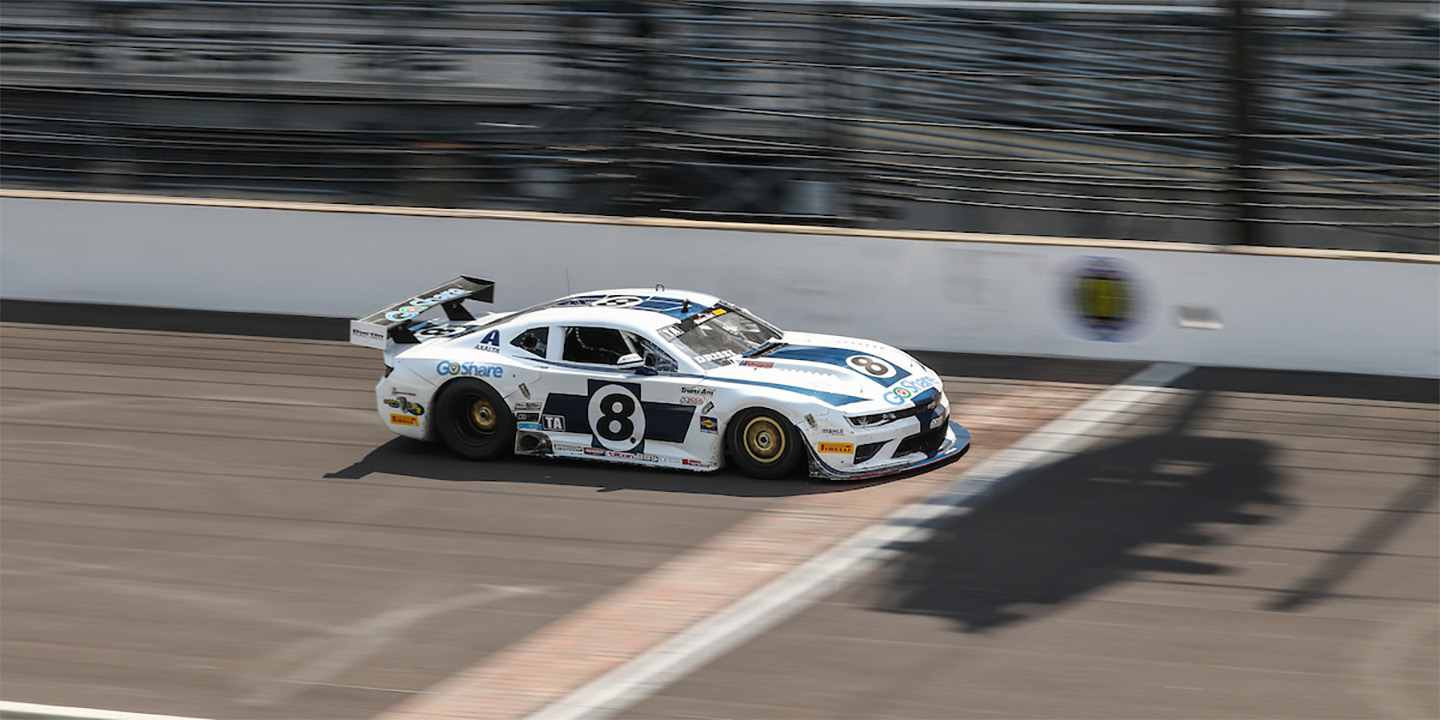 Double Podium for Drissi and Heartfelt Technical Woes for Loshak in Brickyard Trans Am